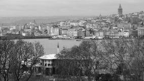 Άποψη πέρα από τη Ιστανμπούλ του πύργου Galata στοκ εικόνες
