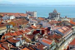 Άποψη πέρα από τη Λισσαβώνα Στοκ φωτογραφία με δικαίωμα ελεύθερης χρήσης