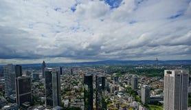 Άποψη πέρα από τη Φρανκφούρτη στοκ εικόνες