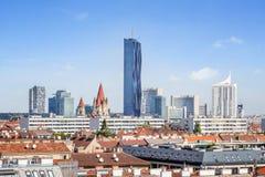 Άποψη πέρα από τον ορίζοντα της Βιέννης, Βιέννη, Αυστρία Στοκ Εικόνα