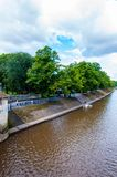 Άποψη πέρα από τον ποταμό Ouse και τη γέφυρα στην πόλη της Υόρκης, UK Στοκ εικόνες με δικαίωμα ελεύθερης χρήσης