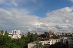 Άποψη πέρα από το Βουκουρέστι κεντρικός Στοκ Εικόνα