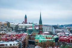 Άποψη πέρα από το Γκέτεμπουργκ το χειμώνα, Σουηδία Στοκ Εικόνα