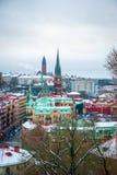 Άποψη πέρα από το Γκέτεμπουργκ το χειμώνα, Σουηδία Στοκ εικόνα με δικαίωμα ελεύθερης χρήσης