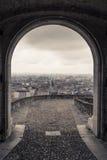 Άποψη πέρα από το Μπέργκαμο Στοκ Εικόνα