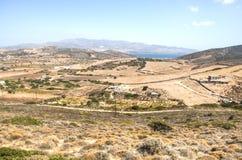 Άποψη πέρα από το νησί Antiparos, Ελλάδα Στοκ Φωτογραφία