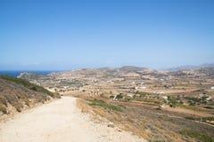 Άποψη πέρα από το νησί Antiparos, Ελλάδα Στοκ Εικόνες