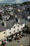 Άποψη πέρα από το χωριό Caernarfon Στοκ εικόνα με δικαίωμα ελεύθερης χρήσης