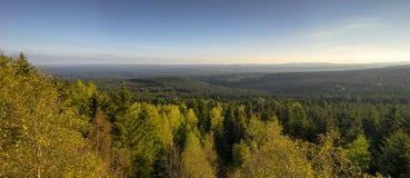 Άποψη πέρα από το Harz στη Γερμανία Στοκ Εικόνες