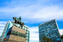 Άποψη πέρα από το Plaza Independencia στο Μοντεβίδεο Στοκ Εικόνες