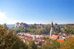 Άποψη πέρα από Burghausen, Βαυαρία, Γερμανία Στοκ φωτογραφία με δικαίωμα ελεύθερης χρήσης
