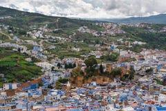 Άποψη πέρα από Chefchaouen, Μαρόκο Στοκ φωτογραφία με δικαίωμα ελεύθερης χρήσης