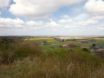 Άποψη πέρα από Egmond, Ολλανδία, από τους αμμόλοφους Στοκ φωτογραφίες με δικαίωμα ελεύθερης χρήσης
