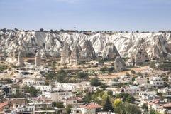 Άποψη πέρα από Goreme στην Τουρκία στοκ εικόνα