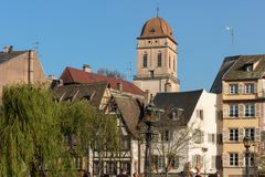 Άποψη πέρα από Krutenau στο Στρασβούργο στοκ εικόνες με δικαίωμα ελεύθερης χρήσης