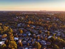 Άποψη πέρα από Macleod στη Μελβούρνη Στοκ Εικόνες
