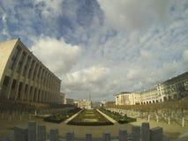 Άποψη πέρα από Mont Des Arts στις Βρυξέλλες Στοκ Φωτογραφία