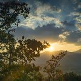 Άποψη πέρα από Pai από Chedi Phra που γεν της Mae στοκ φωτογραφία