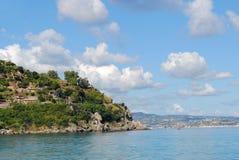 Άποψη πέρα από Scilla και τη Σικελία, Καλαβρία, Ιταλία Στοκ Εικόνες