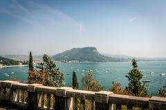 Άποψη πανοράματος, λίμνη Garda Στοκ Εικόνες