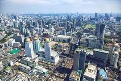 Άποψη πανοράματος πέρα από τη Μπανγκόκ στοκ εικόνες