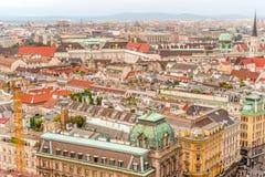 Άποψη πανοράματος πόλεων της Βιέννης από τον καθεδρικό ναό Αυστρία του ST Stephan στοκ φωτογραφίες με δικαίωμα ελεύθερης χρήσης