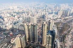 Άποψη πανοράματος στο Χονγκ Κονγκ Στοκ φωτογραφία με δικαίωμα ελεύθερης χρήσης