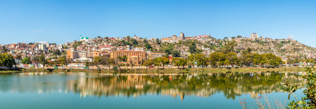 Άποψη πανοράματος στο Antananarivo από τη λίμνη Anosy Στοκ φωτογραφίες με δικαίωμα ελεύθερης χρήσης