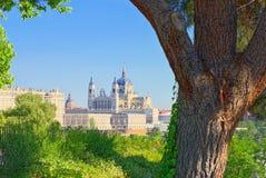 Άποψη πανοράματος σχετικά με τη Royal Palace Palacio πραγματικό στο κεφάλαιο του S Στοκ φωτογραφία με δικαίωμα ελεύθερης χρήσης