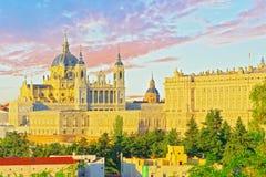 Άποψη πανοράματος σχετικά με τη Royal Palace Palacio πραγματικό στο κεφάλαιο του S Στοκ Φωτογραφίες