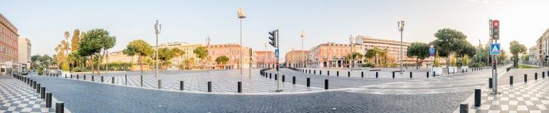 Άποψη πανοράματος της πλατείας Massena στη Νίκαια Στοκ Εικόνα