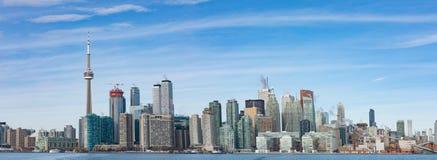 Άποψη πανοράματος της στο κέντρο της πόλης πόλης του Τορόντου στον Καναδά στοκ φωτογραφίες με δικαίωμα ελεύθερης χρήσης