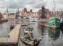Άποψη πανοράματος του Γντανσκ Στοκ φωτογραφία με δικαίωμα ελεύθερης χρήσης