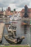 Άποψη πανοράματος του Γντανσκ Στοκ Εικόνες