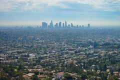 Άποψη πανοράματος του Λος Άντζελες Στοκ Φωτογραφίες