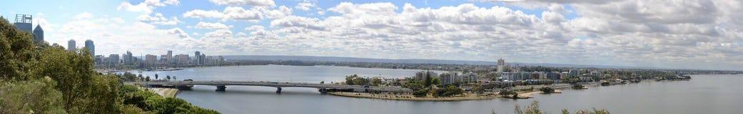 Άποψη πανοράματος του Περθ, Αυστραλία στοκ εικόνες