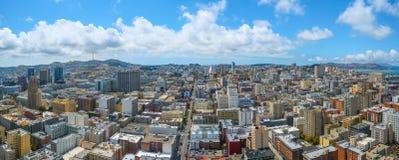 Άποψη πανοράματος του Σαν Φρανσίσκο Στοκ Φωτογραφίες