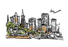 Άποψη πανοράματος του Σαν Φρανσίσκο Στοκ εικόνες με δικαίωμα ελεύθερης χρήσης