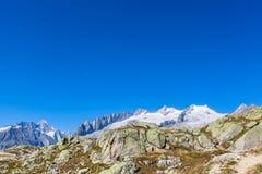 Άποψη πανοράματος των ελβετικών ορών Στοκ φωτογραφία με δικαίωμα ελεύθερης χρήσης