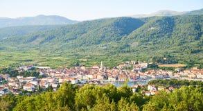 Άποψη πανοράματος Stari Grad στοκ εικόνες