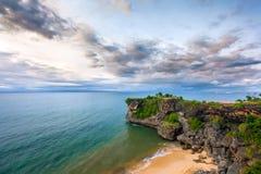 Άποψη παραλιών Balangan, Jimbaran, νότος Kuta, Μπαλί, Ινδονησία Στοκ εικόνα με δικαίωμα ελεύθερης χρήσης