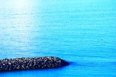 Άποψη παραλιών από το θιγμένο σημείο Στοκ εικόνες με δικαίωμα ελεύθερης χρήσης