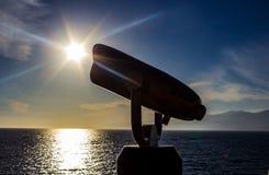 Άποψη περισκοπίων του starburst πέρα από τον ωκεανό απεικόνιση αποθεμάτων