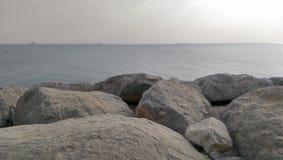 Άποψη Περσικών Κόλπων από το Ras Al Khaimah στα Ε.Α.Ε. στοκ εικόνα με δικαίωμα ελεύθερης χρήσης