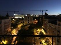Άποψη Πορτογαλία νύχτας της Λισσαβώνας Λισσαβώνα Στοκ εικόνα με δικαίωμα ελεύθερης χρήσης