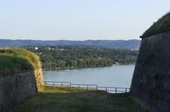 Άποψη ποταμών Δούναβη από το παλαιό φρούριο Στοκ εικόνα με δικαίωμα ελεύθερης χρήσης