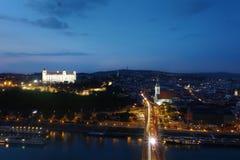 Άποψη ποταμών της Μπρατισλάβα Σλοβακία Στοκ Εικόνα