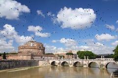 Άποψη ποταμών της Ρώμης στοκ εικόνες