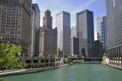 Άποψη ποταμών του Σικάγου Στοκ Εικόνες