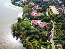 Άποψη πουλιών της λίμνης Qionghai σε Xichangï ¼ ŒChina Στοκ φωτογραφίες με δικαίωμα ελεύθερης χρήσης
